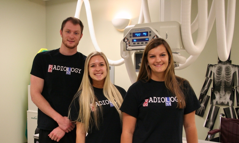 Avery Robinson, Emily Williams and Mary Cartmell each graduated from CCC with an Associate in Applied Science in Radiography degree.